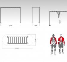 tip-9153-horizontalne-ljestve-sprava-za-vanjski-fitnes_